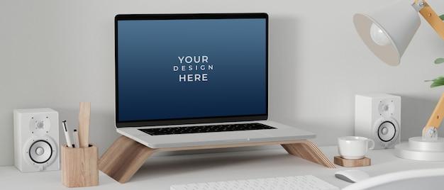 Laptop-computer mit modellbildschirm