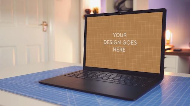 Laptop display mockup