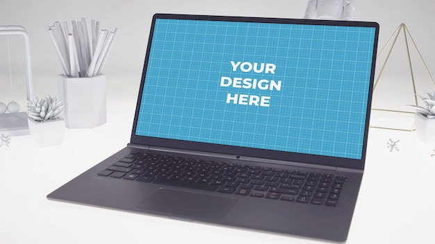 Laptop display mockup
