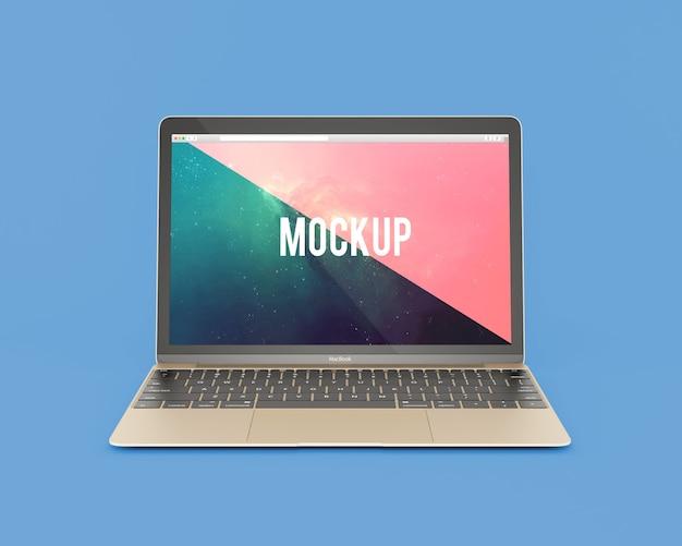Laptop frontalansicht mock up