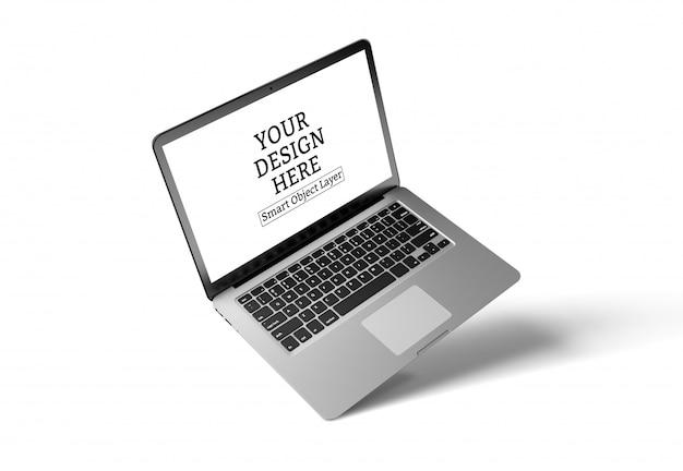 Laptop-gerät verspotten bildschirm