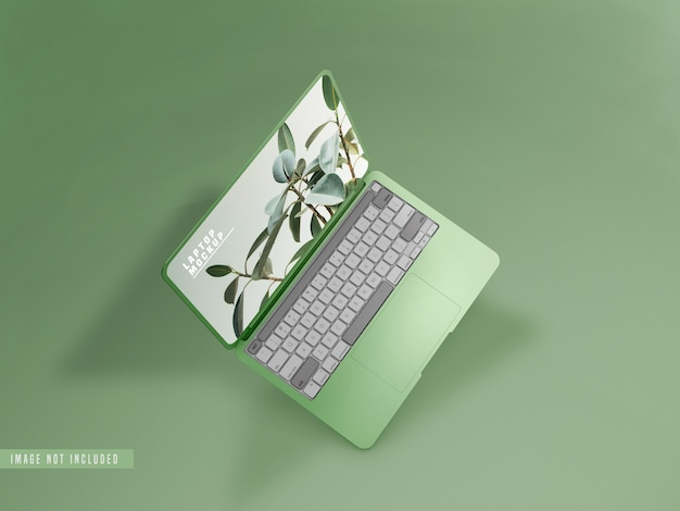 Laptop mockup design