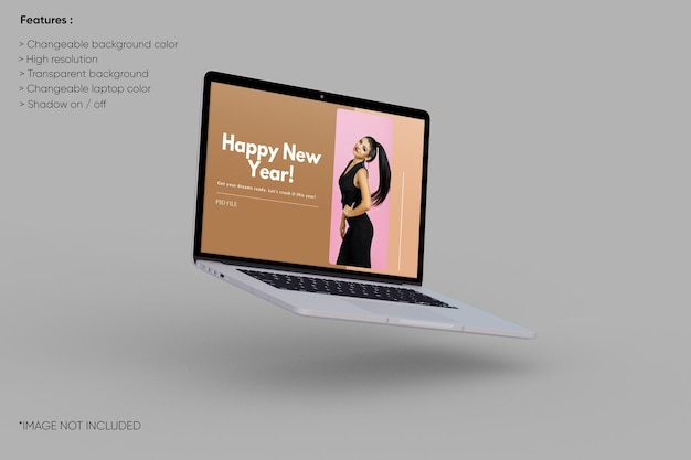 Laptop-modell im vollbildmodus
