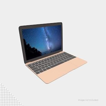 Laptop-modell isolierte wiedergabe