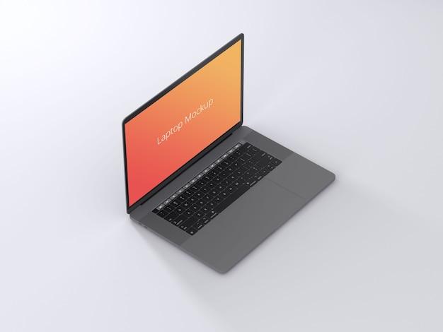 Laptop-modell mit hellem hintergrund