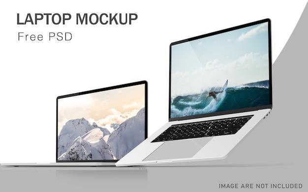 Laptop pro premium-modelle mit hochauflösender kostenloser psd