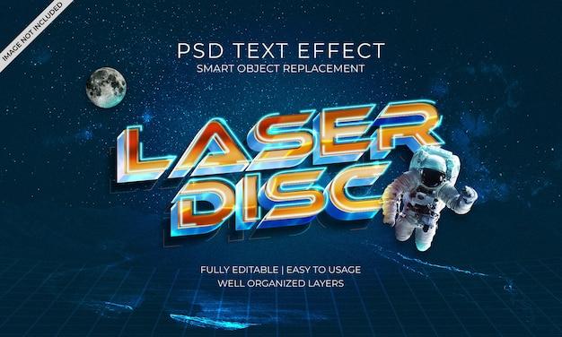 Laser disc text effect
