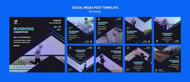 Laufende social-media-post-vorlage für wettbewerbe