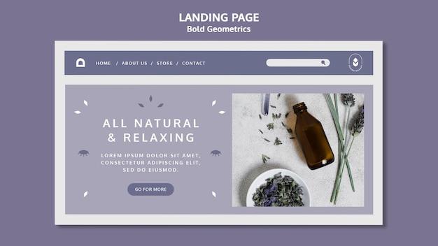 Lavendelöl landingpage vorlage