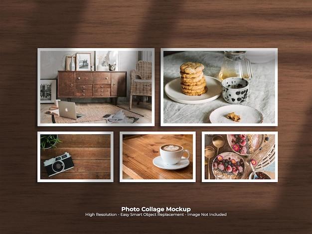 Layoutvorlage für kreative fotocollagen-komposition