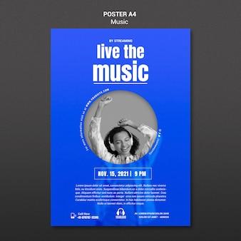 Lebe die musikplakatvorlage