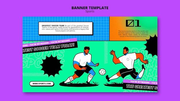 Lebendige illustration fußball-banner-vorlage