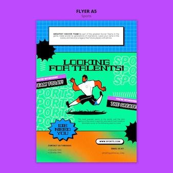 Lebendige illustration fußball-flyer-vorlage