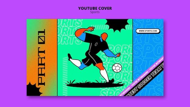 Lebendige illustration fußball vorlage youtube cover
