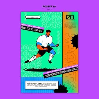 Lebendige illustration fußballplakatvorlage
