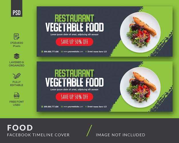 Lebensmittel facebook cover-vorlage