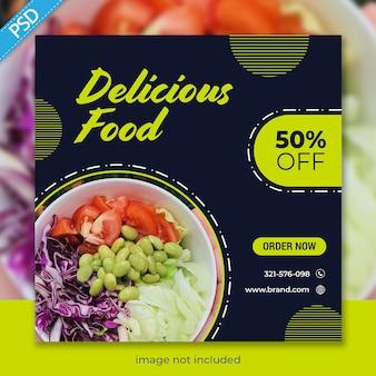 Lebensmittel für social media instagram post banner vorlage premium