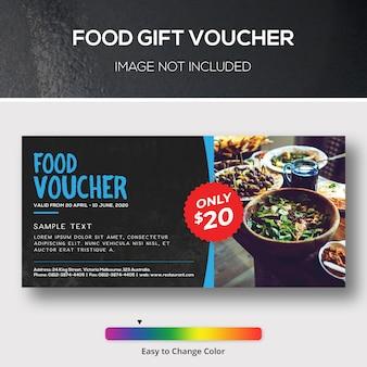 Lebensmittel-geschenkgutschein