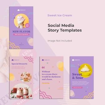 Lebensmittel instagram story template banner design