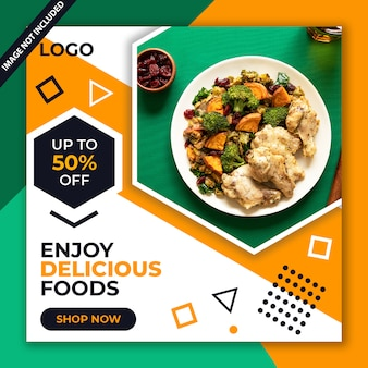 Lebensmittel-restaurant social-media-beitrag psd