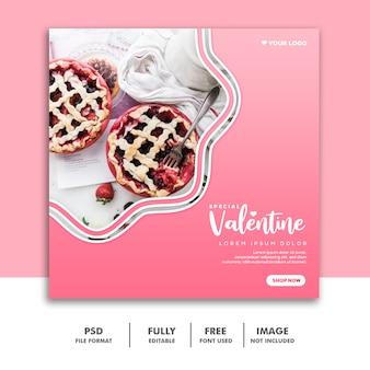 Lebensmittel valentine banner