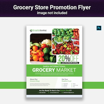 Lebensmittelgeschäft promotion flyer