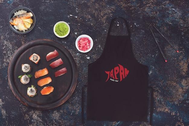 Lebensmittelmodell mit sushi-design