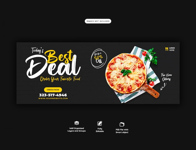 Lebensmittelverkaufsmenü für web-banner-vorlage