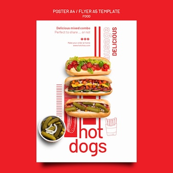 Lebensmittelvorlage poster und flyer designvorlage
