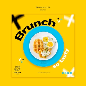 Leckere brunch flyer vorlage