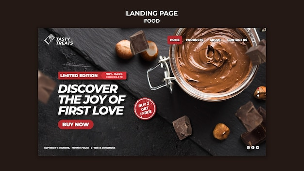 Leckere dessert-landingpage-vorlage