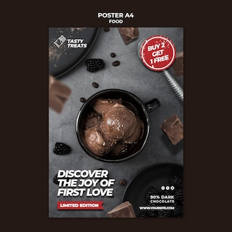 Leckere dessertplakatschablone