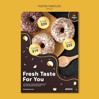 Leckere donuts plakatschablone