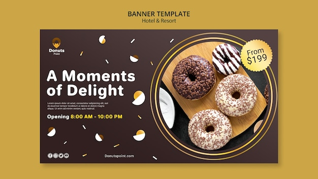 Leckeres donuts horizontales banner