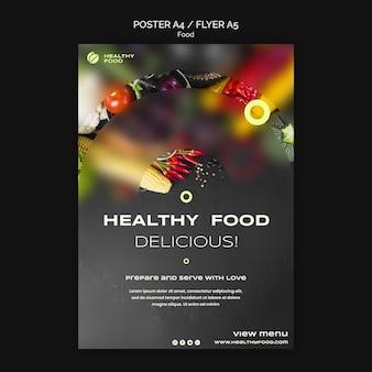 Leckeres essen flyer vorlage food