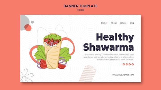Leckeres shawarma-banner Premium PSD