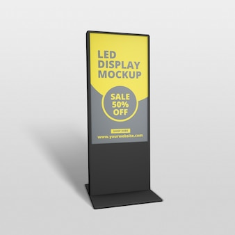 Led display screen stand mockup
