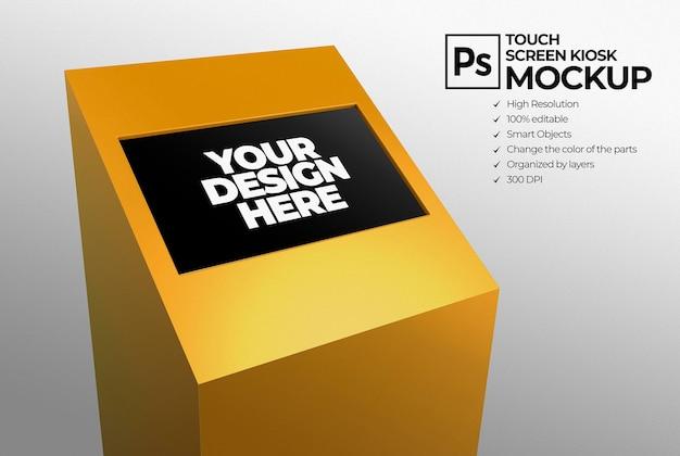 Led-display-ständer-mockup für branding- und werbepräsentationen