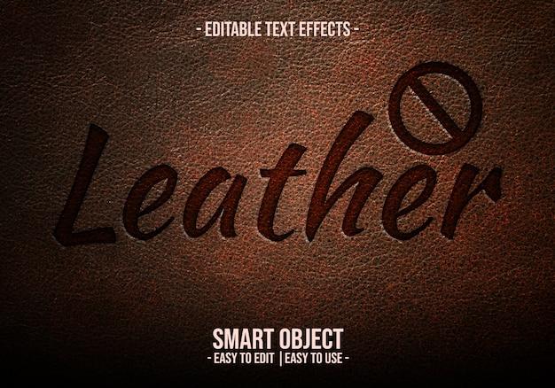 Leder-text-style-effekt