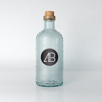 Leere flasche mock-up