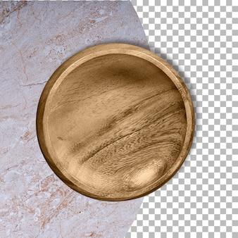 Leere gummibaumholzplatte isoliert auf transparenz