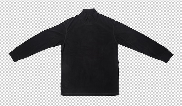 Leere schwarze langärmlige t-shirt-modellschablone.