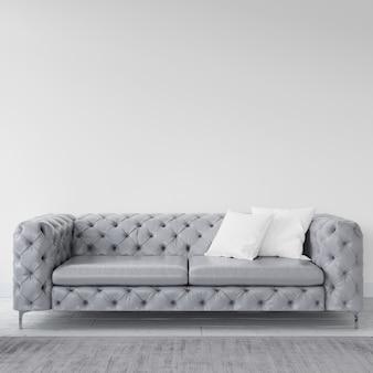 Leere wand mit elegantem sofa