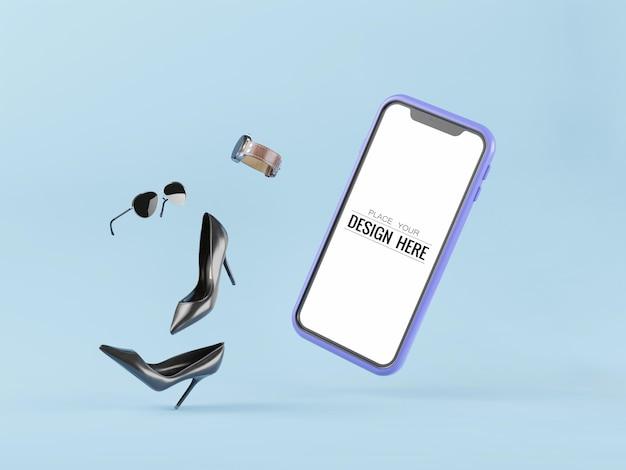 Leerer bildschirm smartphone mockup