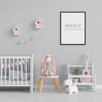 Leerer fotorahmen für modell im kinderzimmer Premium PSD