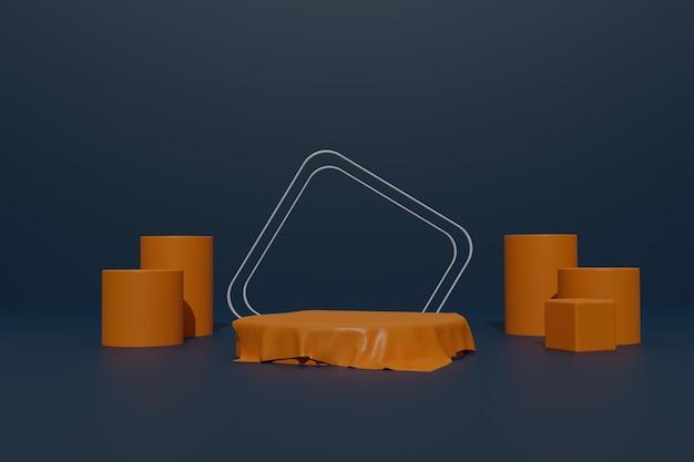 Leerer podesthintergrund mit geometrischer form für die produktpräsentation