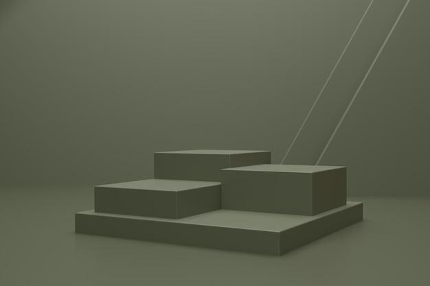 Leeres 3d-renderpodium für die produktpräsentation
