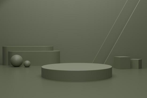 Leeres 3d-renderpodium für produktwerbung