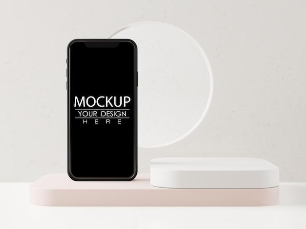 Leeres bildschirm-smartphone-modell