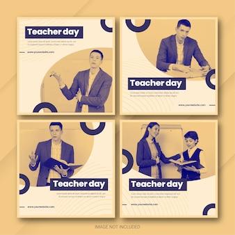 Lehrertag instagram post bundle vorlage